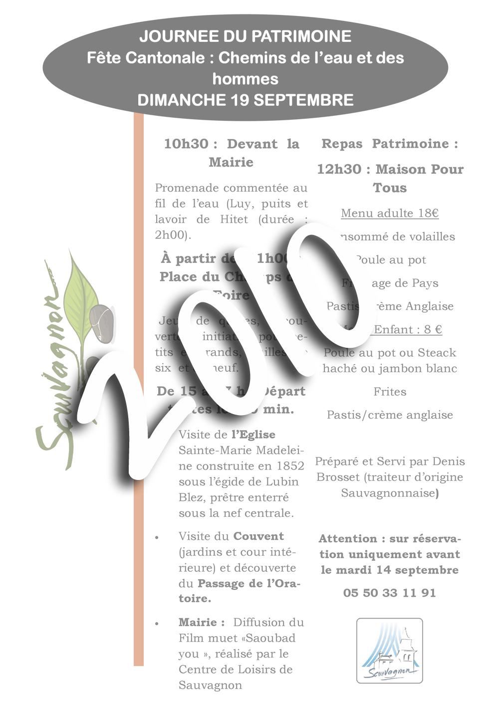 Sauvagnon patrimoine 2010